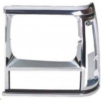 Frame left headlight for jeep Cherokee 1991 to 1996 black and chrome plated Lucana Bumper and accessories