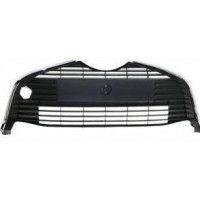 The central grille front bumper for Toyota Yaris 2014 onwards Black with chrome bezel Lucana Bumper and accessories