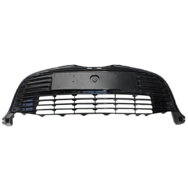Griglia centrale paraurti anteriore per per yaris 2014- nera con fori cornice