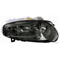 Headlight left front Alfa 147 2000 to 2004 black windscreen Lucana Headlights and Lights