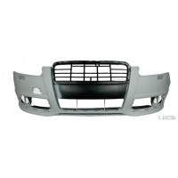 Front bumper AUDI A6 2008 to 2010 with headlight washer holes Lucana Bumper and accessories