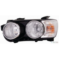 Headlight left front Chevrolet Aveo 2011 to corn chrome. Lucana Headlights and Lights