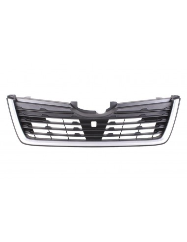 Black front grille with silver frame...