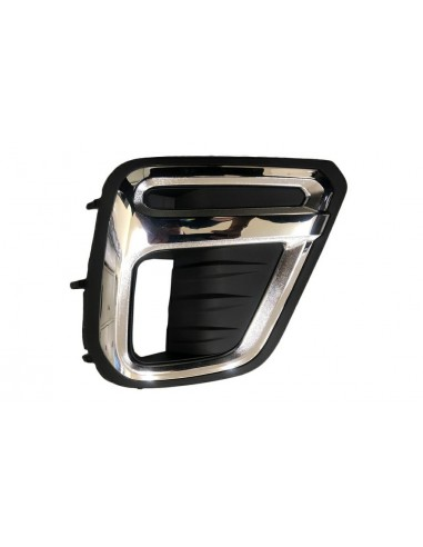 Right chrome-black bumper grill with...