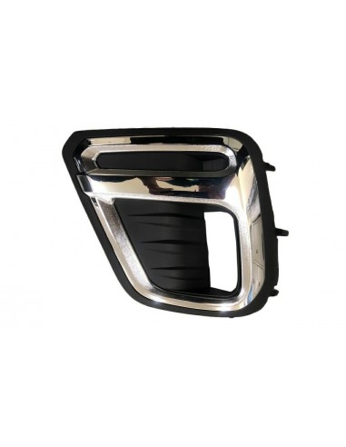 Left chrome-black bumper grill with...