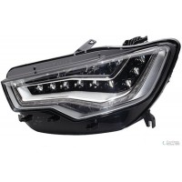 Headlight right front AUDI A6 2011 onwards xenon dynamic led AFS hella Headlights and Lights