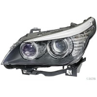 Headlight right front bmw 5 series E60 E61 2007 onwards H7 hella Headlights and Lights