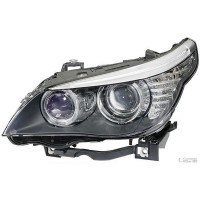 Headlight right front bmw 5 series E60 E61 2007 onwards Xenon hella Headlights and Lights