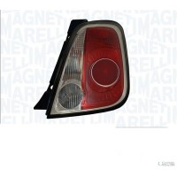 Lamp RH rear light for Fiat 500 2007 onwards black border marelli Headlights and Lights