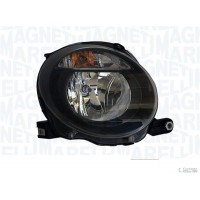 Headlight right front fiat 500 2007 onwards upper black marelli Headlights and Lights