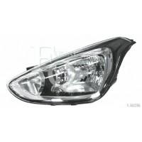 Headlight right front headlight for Hyundai i10 2013 onwards 1 black dish Lucana Headlights and Lights