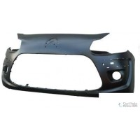 Front bumper Citroen C3 2009 onwards with fog holes and holes trim Lucana Bumper and accessories